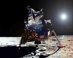 Apollo 11 lunar module on Moon