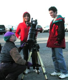 Daytime telescope instruction