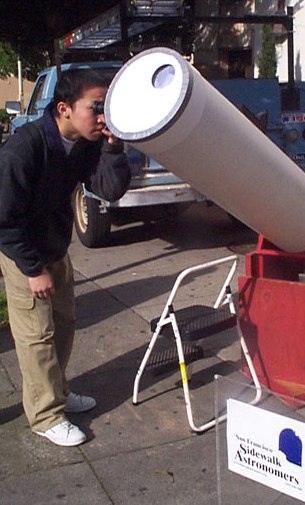 Solar filter in use