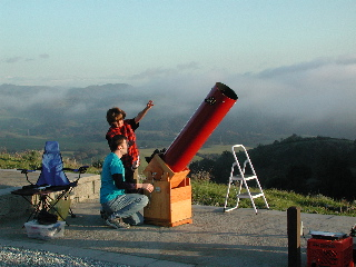 Preparing for observing at Fremont Peak, CA