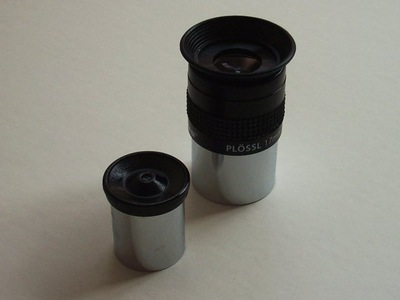 photo comparing cheap and quality eyepieces
